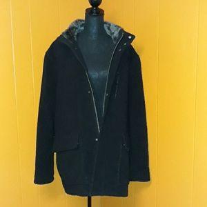 Cole Haan heavy wool coat winter jacket
